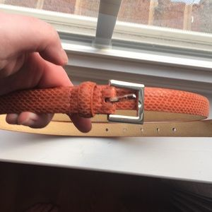Lane Bryant Snake Skin Texture Skinny Belt